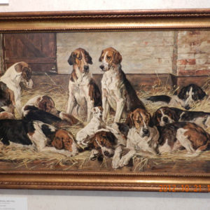 """Hounds in a Kennel"" by John Emms"